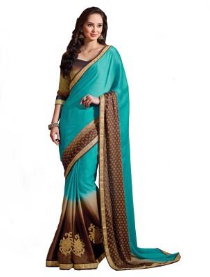 Nilu Tex Embriodered Bollywood Handloom Satin Sari