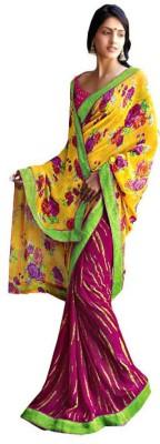 Laxmipati Floral Print Fashion Pure Georgette Sari