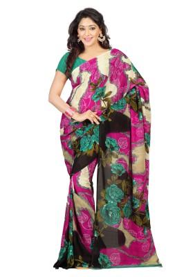 V-Karan Printed Fashion Synthetic Georgette Sari