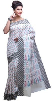 DARPS Printed Mooga Handloom Cotton Sari