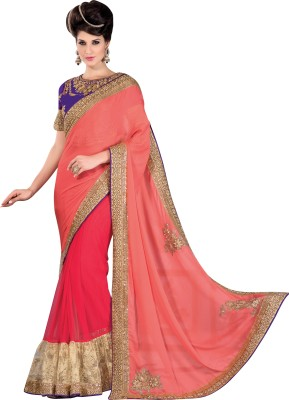 Brijraj Embriodered Fashion Chiffon Sari