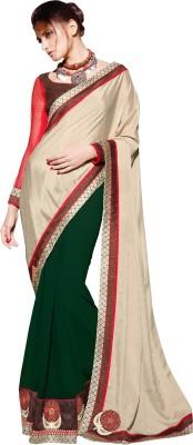 Dilwaa Self Design, Embriodered, Embellished Fashion Georgette, Silk Sari