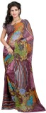 Zombom Printed Daily Wear Georgette Sari...