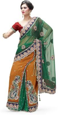 Moh Manthan Self Design Lehenga Saree Net, Viscose, Art Silk Sari