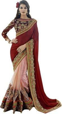 Crafts N Culture Self Design Fashion Chiffon, Net Sari