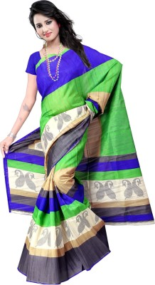 Shivam Prints Printed Daily Wear Silk Cotton Blend Sari