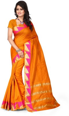 Pehnava Self Design Kanjivaram Polycotton Sari