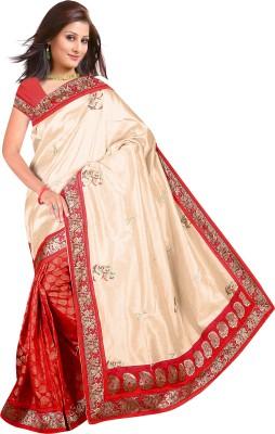 Mahadevi Embriodered Chanderi Chanderi, Art Silk Sari