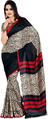 Right Shape Geometric Print Bollywood Art Silk Sari