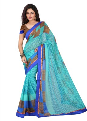 Yehii Checkered Fashion Chiffon Sari