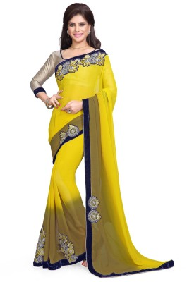 Sourbh Sarees Embriodered Bollywood Georgette Sari