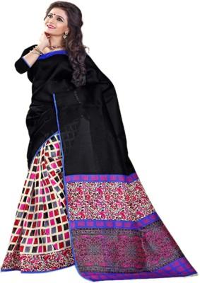 Sonakshi Sarees Striped Mysore Art Silk Sari