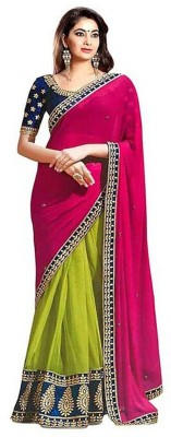 Wear N Glow Embriodered Fashion Georgette Sari