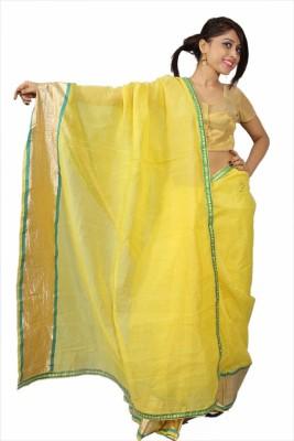 Creativz Hand Plain Chanderi Chanderi Sari