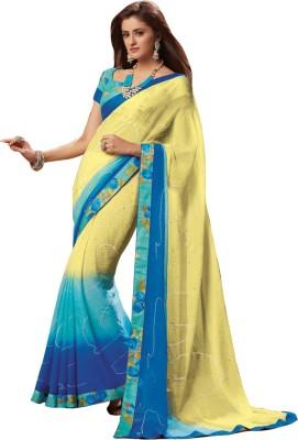 Laxmipati Embriodered Bollywood Pure Chiffon Sari