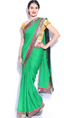 Anouk Solid Fashion Handloom Synthetic, Georgette Sari