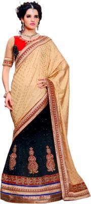 RV Fashions Printed Lehenga Saree Georgette Sari