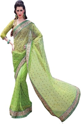 Allol Embriodered Fashion Net Sari
