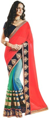 Indian Pahnaav Embriodered Bollywood Georgette Sari