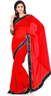 Indian Saree Solid Bollywood Chiffon Sari