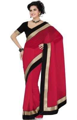JAI BHARAT SAREES Plain Fashion Georgette Sari