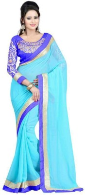 Kanha Fashionna Plain Fashion Chiffon Sari