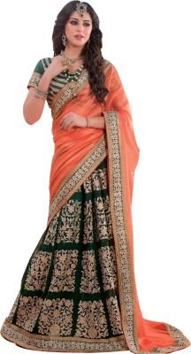 Apka Apna Fashion Embriodered Lehenga Saree Handloom Synthetic Sari
