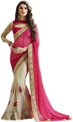 TrynGet Embriodered Bollywood Chiffon Sari