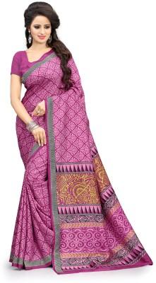 AJS Applique, Printed Fashion Art Silk Sari
