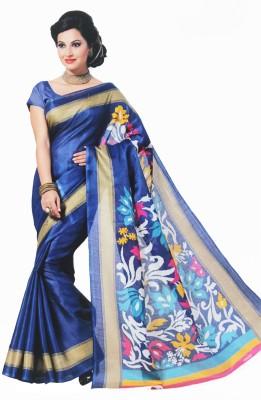 BPS Printed, Floral Print Bhagalpuri Handloom Printed Silk, Art Silk, Khadi, Silk Cotton Blend Sari