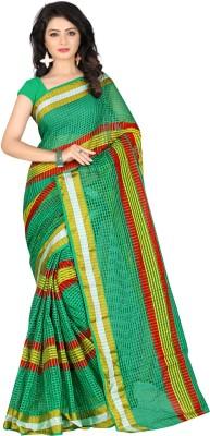 Sanju Sarees Checkered Fashion Cotton Sari