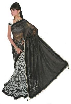 Amisha Creation Embriodered Bollywood Brasso, Chiffon Sari
