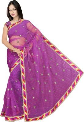 Pbs Prints Embriodered Bandhej Net Sari