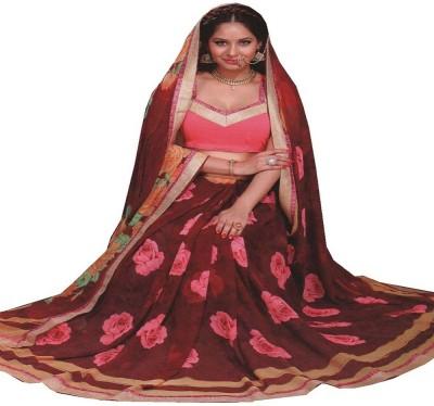 Saloni Printed Fashion Synthetic Georgette Sari