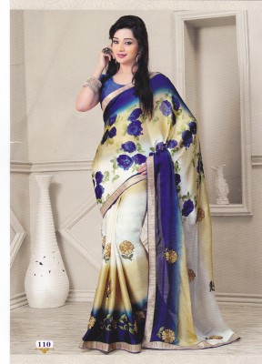 Maheshwary Traders Embriodered Fashion Synthetic Fabric Sari