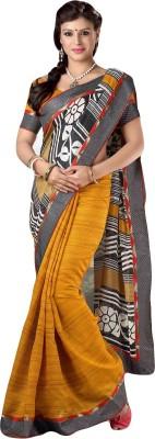 VK Trendz Printed Bhagalpuri Cotton Slub Sari