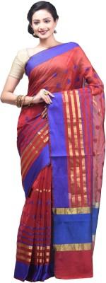 Creation Floral Print Fashion Handloom Silk Cotton Blend Sari