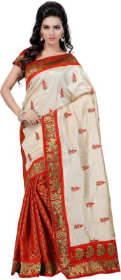 Mahadevi Embriodered Bollywood Art Silk, Chanderi Sari