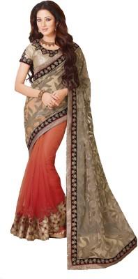 Fashion Forever Embriodered Fashion Jute, Net Sari