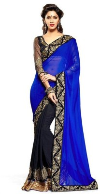 Angel Retail Embriodered Bollywood Georgette Sari