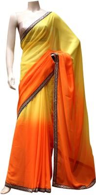 Charming Solid Fashion Georgette Sari