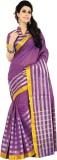 Jannat Striped Fashion Cotton Saree (Pin...