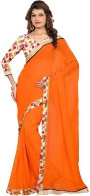 Forfemal Self Design Fashion Pure Georgette Sari
