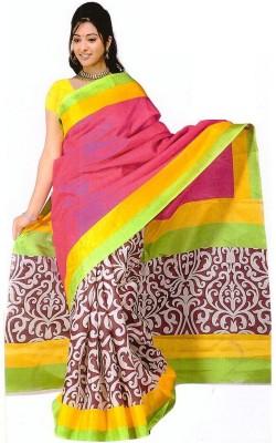 The Designer House Printed Bhagalpuri Handloom Art Silk Sari