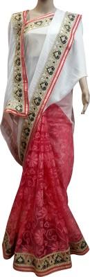 alphonsa Self Design Bollywood Net, Silk Linen Blend Sari