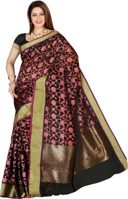 Izaa Fashion Self Design Fashion Silk Cotton Blend Sari