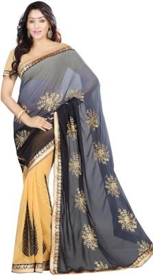 Jay Ambe Self Design Fashion Chiffon Sari