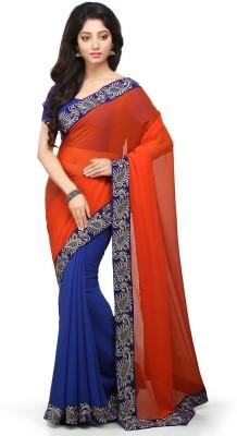 Bay & Blue Embriodered Fashion Chiffon Sari