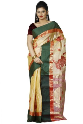 Aryika Woven Tant Handloom Tussar Silk Sari