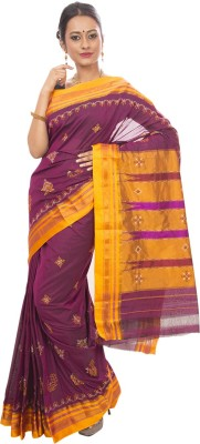 Dhammanagi Embriodered, Woven Ilkal Handloom Silk Cotton Blend Sari